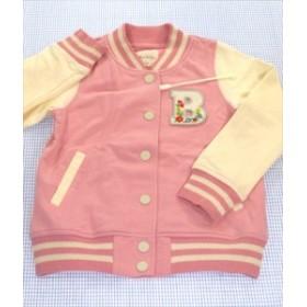ブランシェス BRANSHES ジャンバー スタジャン 110cm ピンク/白系 アウター キッズ 女の子 子供服 通販 買い取り