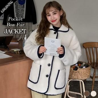 【GOGOSING】ポケットボア毛ジャケット★レディースアウター レディースジャケット 冬 新作 韓国 ファッション p000cvbp