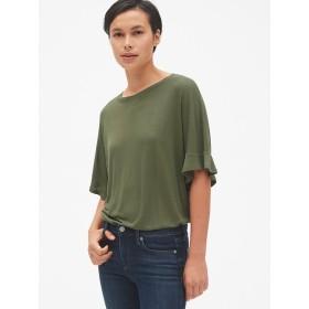 Gap ドレープ フラッタースリーブTシャツ