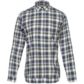 《期間限定セール開催中!》MANUEL RITZ メンズ シャツ ダークブルー 43 コットン 100%