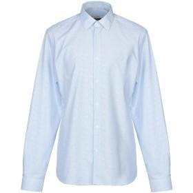 《セール開催中》VERSACE COLLECTION メンズ シャツ スカイブルー 40 コットン 100%