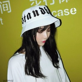 ブラックレターバケットハット フラクトゥール 韓国 メール便OK ダンス 衣装 原宿系 オルチャン ストリート