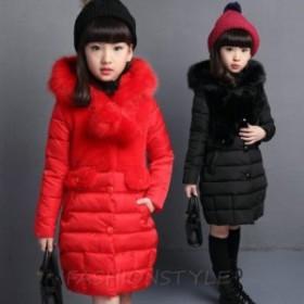 子供服コート 女の子 中綿コート キルティング 子供 防寒 ジャケット アウター 女児 ファーコート 暖かい かわいい キッズコート