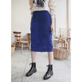 ウエストゴムコーデュロイHラインスカート・全5色・b52052