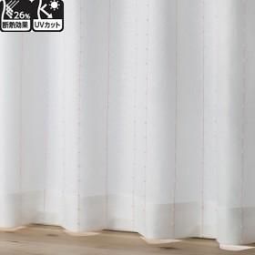HOME COORDY 断熱 レースカーテン ピンク 100X213cm 2枚入り HC-BL ホームコーディ 100X213cm 2枚入り