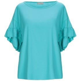 《期間限定 セール開催中》MARIA BELLENTANI レディース T シャツ ターコイズブルー XS レーヨン 95% / ポリウレタン 5%