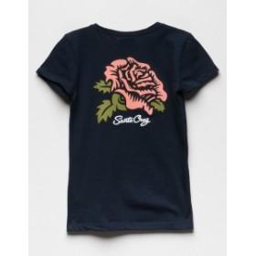 サンタクルーズ Tシャツ カットソー デザインTシャツ キッズ 女の子【SANTA CRUZ Rose Girls Tee】 NAVY