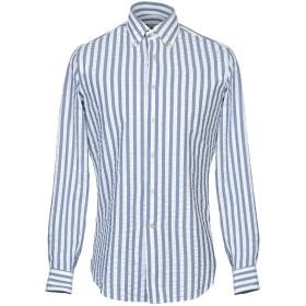《送料無料》ALESSANDRO GHERARDI メンズ シャツ ブルーグレー 42 コットン 100%