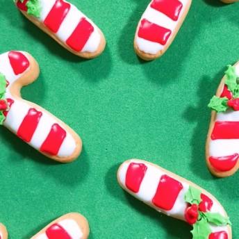 クリスマスアイシングクッキー キャンディケーン