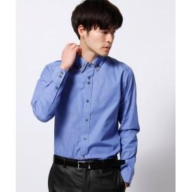 ニコルクラブフォーメン ダブルカラードレスシャツ メンズ ブルー(ターコイズ) M 【NICOLE CLUB FOR MEN】