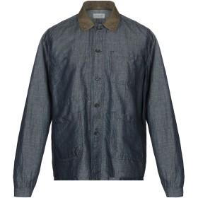 《9/20まで! 限定セール開催中》TINTORIA MATTEI 954 メンズ デニムシャツ ブルー 38 コットン 50% / 麻 50%