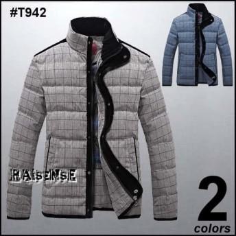 メンズ ダウンジャケット【2色】デザインジャケット メンズアウター ジャンバーJKT #T942