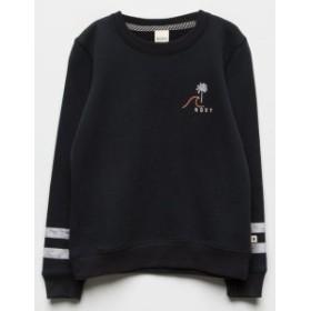 f303081bb4c3b5 ロキシー パーカー トレーナー キッズ 女の子【ROXY Wave Girls Sweatshirt】 BLACK