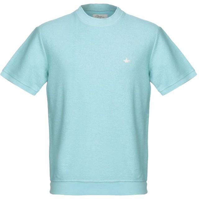 《期間限定 セール開催中》MACCHIA J メンズ スウェットシャツ スカイブルー L コットン 100%