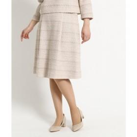 DRESSTERIOR / ドレステリア 【WEB限定Lサイズあり】タックフレアーツイードスカート