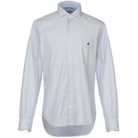 《期間限定セール開催中!》BROOKSFIELD メンズ シャツ ホワイト 45 コットン 100%
