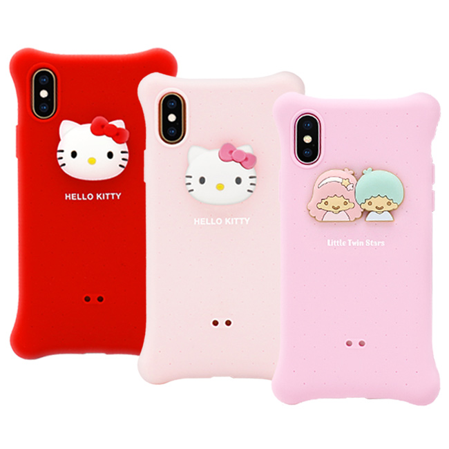 GARMMA 三麗鷗家族 Hello Kitty IPhone Xs Max 6.5 I7/8 Plus 四角氣囊果凍套