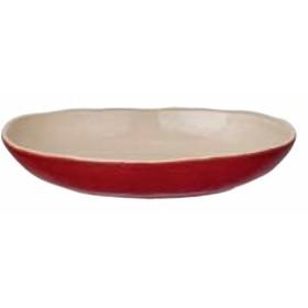 ほっくり カレー皿  レッド 34336
