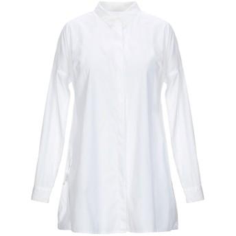 《セール開催中》,MERCI レディース シャツ ホワイト S コットン 97% / ポリウレタン 3%