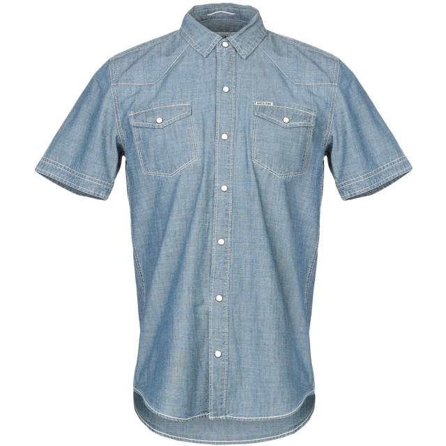 《期間限定 セール開催中》GARCIA JEANS メンズ デニムシャツ ブルー S コットン 100%