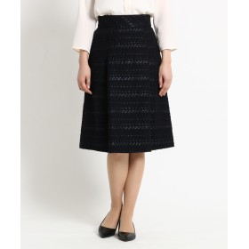 DRESSTERIOR(Ladies)(ドレステリア(レディース)) 【WEB限定Lサイズあり】タックフレアーツイードスカート