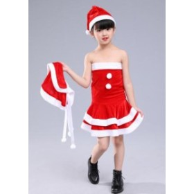 [100-150サイズ]サンタ セットアップ ボレロ スカート コスプレ クリスマス 衣装 3点セット 定番 サンタ 子供女の子服コスチューム