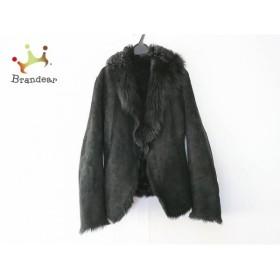 ダナキャラン DKNY コート サイズ4 XL レディース 黒 ムートン/冬物     スペシャル特価 20190305