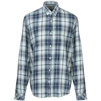 《9/20まで! 限定セール開催中》GARCIA JEANS メンズ デニムシャツ ダークブルー S コットン 100%