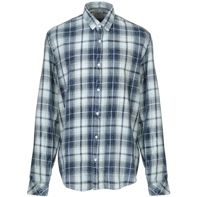 《期間限定セール開催中!》GARCIA メンズ デニムシャツ ダークブルー S コットン 100%