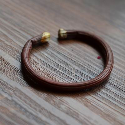 【西藏山南雞血藤手鐲-稀有無結紅皮-1個1組】原創手工編織鐲徑5-6mm多-偶有7-8mm配袋-30104