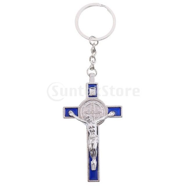 十字架 イエス・キリスト像 置物 キーリング キーホルダー カー ホーム 礼拝堂 装飾
