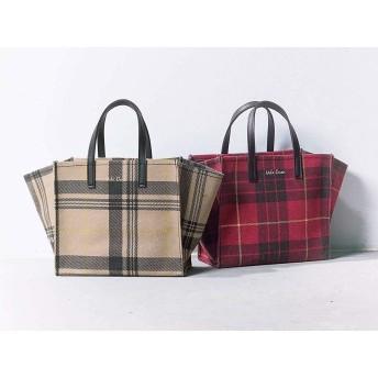 Mila Owen ミラ オーウェン チェック トートバッグ 大人 可愛い ハンドバッグ