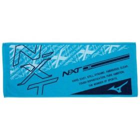 MIZUNO SHOP [ミズノ公式オンラインショップ] N-XTフェイスタオル 22 ブルーxネイビー 32JY9103