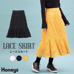 Honeys レース マーメイドスカート