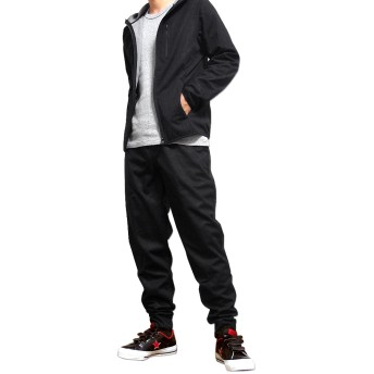 ジョガーパンツ - EVERSOUL フリース パンツ ジョガーパンツ メンズ ストレッチ 下 ズボン スポーツ ウォーキング 暖かい TULTEX ブラック 黒 LL 3L ジムウェア 防寒 作業着 防風