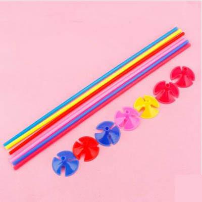 【小號乳膠氣球托杆-42cm-托+杆-套-40套】生日佈置乳膠氣球杆裝飾托杆裝飾品-7201015