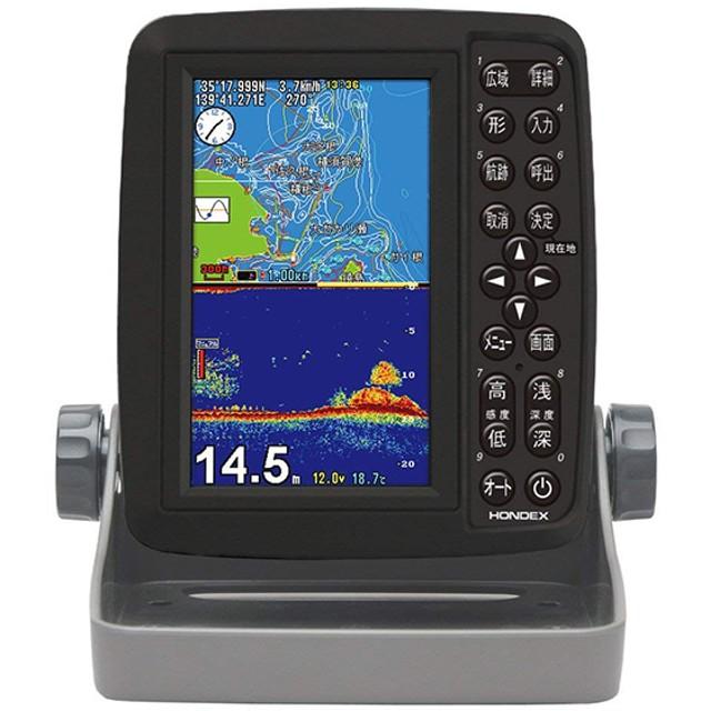 HONDEX PS-611CN 5型ワイドポータブルGPS内蔵プロッター魚探 魚群探知機