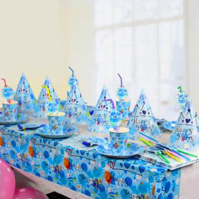 【生日主題6人套餐-6人份-套-1套】周歲兒童生日派對佈置裝飾用品party裝飾品-7201015