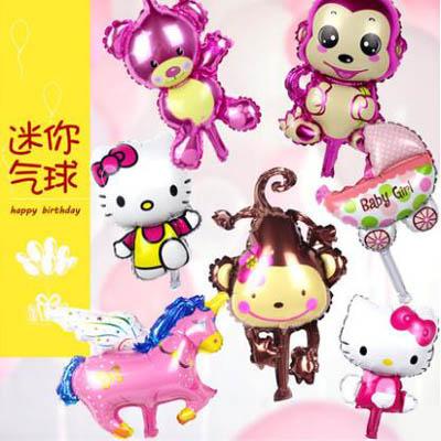 【迷你可愛鋁膜氣球-35cm-10個】周歲生日派對佈置背景裝飾(可混搭-送氣筒)-7201015