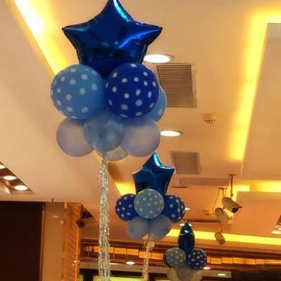 【18寸流蘇彩氣球套餐-45x160cm-5套】氣球雨絲周歲生日派對佈置(可混搭-送氣筒)-7201015