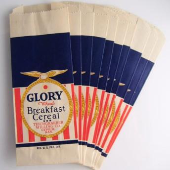 アンティーク・ミニ紙袋10枚セット、デッドストック・未使用 送料無料