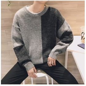 [55555SHOP] 限定発売 高品質で 韓国ファッション メンズ/ラウンドネック/カシュクール/セーター/ハンサム/トレンド/パーソナリティ/ニット/セーター