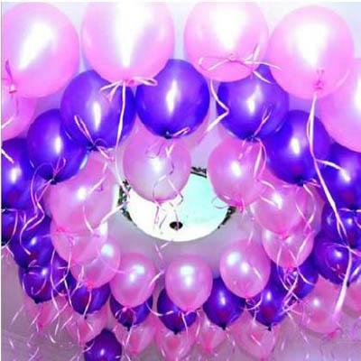 【10寸加厚珠光氣球-30-35cm-10個-包-10包】純色乳膠氣球生日派對裝飾(可混搭)-7201015
