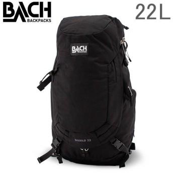 【あすつく】 バッハ BACH バックパック 22L リュックサック デイパック Shield 22 シールド 125310 ブラック Backpack Black ナイロン バック アウトドア