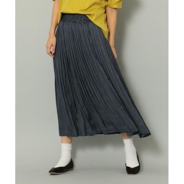 シェアパーク モイストサテンプリーツ スカート レディース ネイビー系 1 【SHARE PARK】