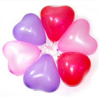 【1.8g心形珠光氣球-10寸-100個-包-1包】乳膠氣球派對生日裝飾(可混搭-有贈品)-7201015