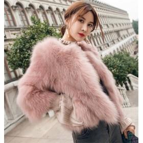 限定SALE価格/韓国ファッション/大人気/気質/暖かい/厚手/フォックス/短いスタイル/ファー・毛皮/フェイクファー/コート