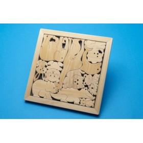 じぃじの手仕事 ぬくもりいっぱいの木製おもちゃ【動物パズルA】