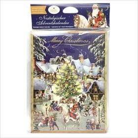 クリスマスお菓子 アドベントカレンダー チョコレート クリスマスノスタルジックナイト 日めくりカレンダーチョコ