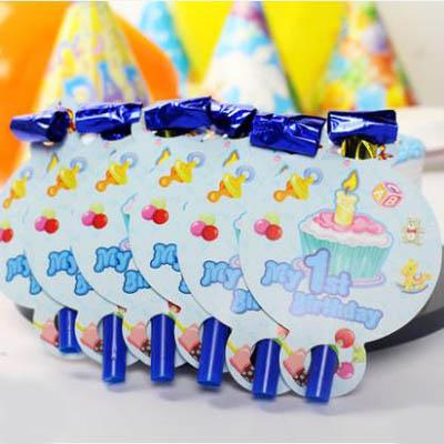 【生日吹龍-13-28cm-6個-包-4包】兒童生日口哨吹吹卷玩具吹龍派對用品(可混搭)-7201015